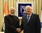 Prime Minister, Narendra Modi calls on the President of Israel, Reuven Rivlin, in Jerusalem, Israel