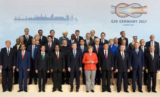 Prime Minister, Narendra Modi in the family photograph with other Leaders' of G-20 Nations, at Hamburg, Germany