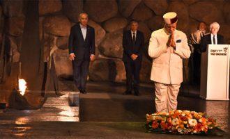 PM Modi visits Holocaust memorial in Jerusalem