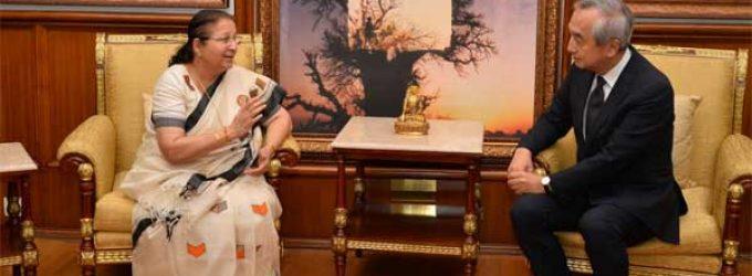 Kenji Hiramatsu, Ambassador of Japan to India calls on Lok Sabha Speaker Sumitra Mahajan