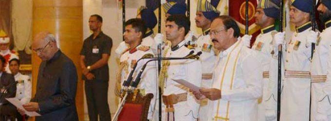 Naidu takes oath as new Vice President