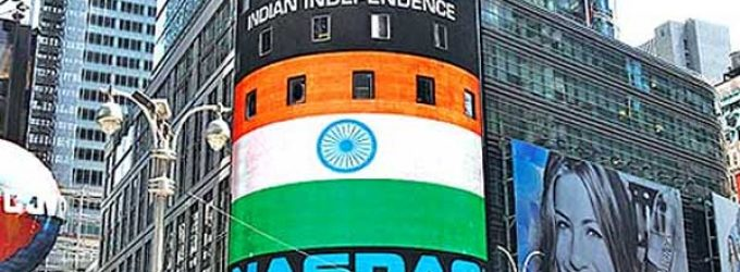 Nasdaq celebrates Indian I-Day