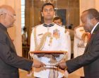 High Commissioner-designate of the Malawi, George C. Mkondiwa presenting his credentials to the President, Ram Nath Kovind
