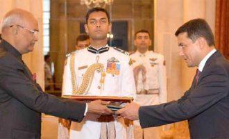 Ambassador-designate of Uzbekistan, Farhod Arziev presenting his credentials to the President, Ram Nath Kovind