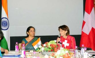 MoS for Commerce & Industry (IC), Nirmala Sitharaman with the President of Swiss Confederation, Doris Leuthard,