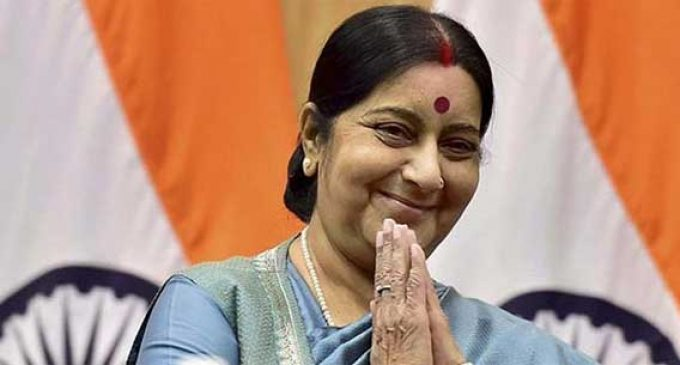 Indian Foreign Minister Sushma Swaraj makes unscheduled visit to Iran ahead of Chabahar port inauguration