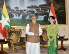 Modi gifts Suu Kyi her IIAS fellowship proposal reproduction