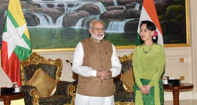 Modi gifts Suu Kyi her IIAS fellowship proposal reproduction