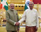 Modi in Myanmar amid Rohingya crisis