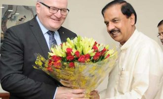Minister of Culture of Czech Republic, Daniel Herman meeting the MoS for Culture (I/C) and Environment, Forest & Climate Change, Dr. Mahesh Sharma
