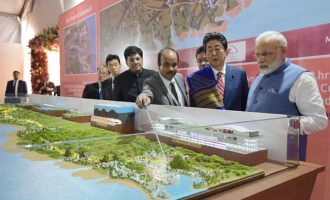 Modi, Abe lay foundation stone of high-speed rail project