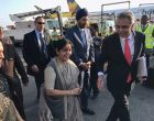 Sushma Swaraj arrives in New York for UNGA session