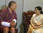 Sushma meets PM of Bhutan, Bangladesh