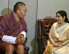 Sushma meets PM of Bhutan, Bangladesh