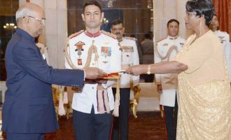 Ambassador-designate of Burundi, Stella Bdiriganya presenting her Credentials to the President, Ram Nath Kovind