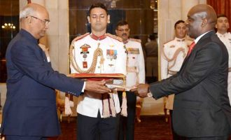 High Commissioner-designate of Tanzania, Baraka Haran Luvanda presenting his Credentials to the President, Ram Nath Kovind