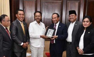 An Indonesia-India Parliamentary Friendship Group led by Satya Widya Yudha, Chairman of the Group calls on Deputy Speaker, Lok Sabha Dr. M. Thambi Durai