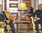 The Chief Executive of Afghanistan, Abdullah Abdullah calls on the President, Ram Nath Kovind,