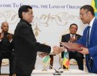 President, Ram Nath Kovind and the President of Ethiopia, Dr. Mulatu Teshome witnessing the signing of MoU