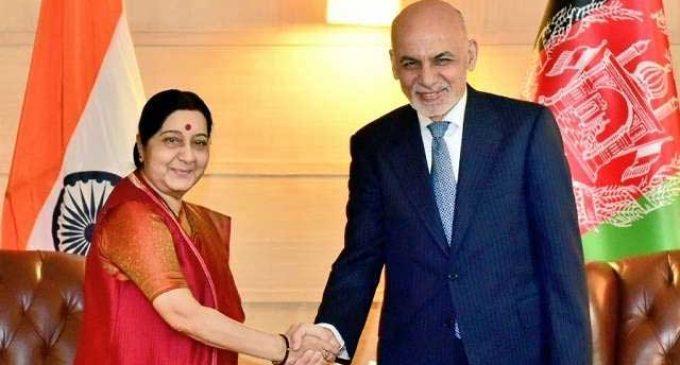 Sushma calls on visiting Afghan President