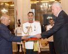 Ambassador-Designate of Croatia, Petar Ljubicic presenting his credentials to the President, Ram Nath Kovind,
