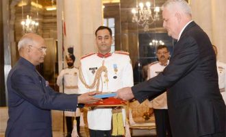 Ambassador-Designate of Croatia, Petar Ljubicic presenting his credentials to the President, Ram Nath Kovind,