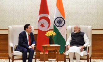 Tunisian Foreign Minister on India visit, calls on Modi