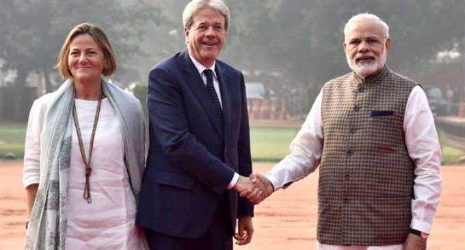 Italian PM accorded ceremonial welcome