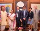 Australian Parliamentary Delegation led by Stephen Parry, President of the Australian Senate, calls on Lok Sabha Speaker Sumitra Mahajan