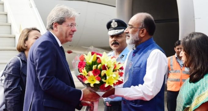 Italian PM arrives in India to boost bilateral ties