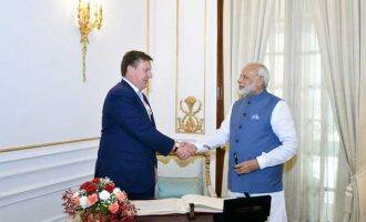 Modi meets Latvian PM