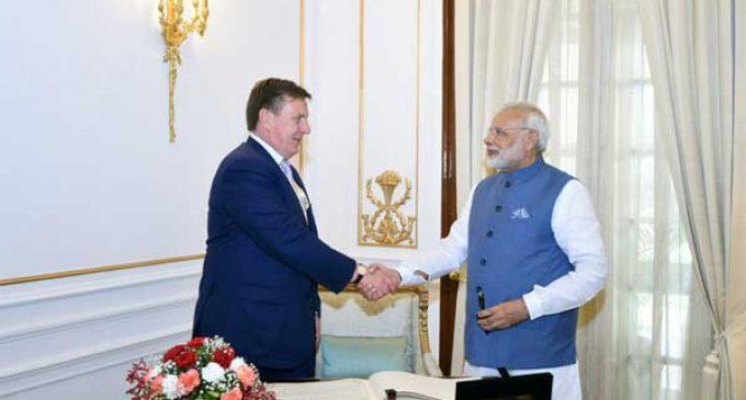Modi meets Latvian PM