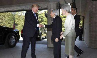 Trump meets Japanese Emperor