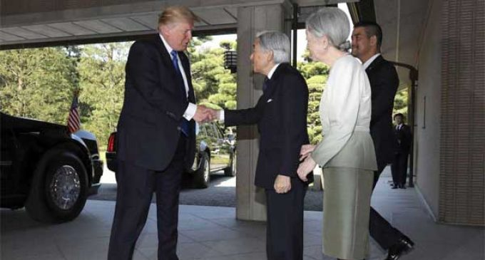 Trump meets Japanese Emperor
