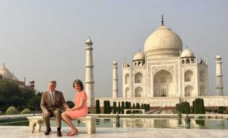 Belgian King, Queen visit Taj Mahal