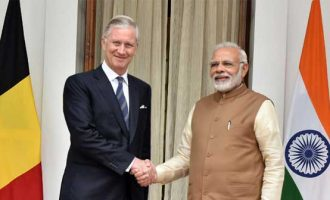 Indian Prime Minister Narendra Modi Modi meets Belgian King