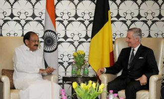 Vice President, M. Venkaiah Naidu calling on His Majesty The King Philippe of Belgium,