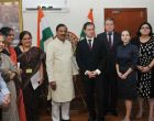 Minister of Culture of the Russian Federation, Vladimir Medinsky calling on the MoS for Culture (I/C) and Environment, Forest & Climate Change, Dr. Mahesh Sharma
