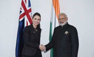 PM, Narendra Modi meeting the Prime Minister of New Zealand, Jacinda Ardern, in Manila, Philippines