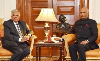 Prime Minister of the Democratic Socialist Republic of Sri Lanka, Ranil Wickremesinghe calling on the President, Ram Nath Kovind
