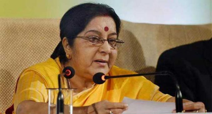 Sushma Swaraj to visit China, Mongolia this month