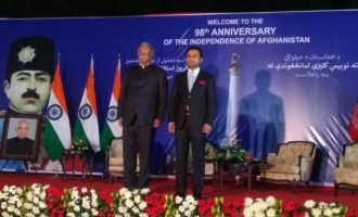 Shri Ashok Gajapati Raju, Minister of Civil Aviation as Chief Guest with Ambassador of Afghanistan to India, H.E. Mr. Shaida Mohammad Abdali on the eve of 98th Anniversary of Independence of Afghanistan.