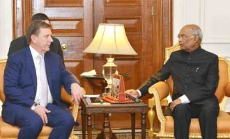 PRIME MINISTER OF LATVIA CALLS ON THE PRESIDENT