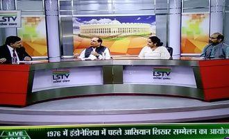 Diplomacyindia.com Editor V N Jha participating in Panel Discussion on Lok Sabha Television