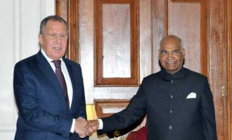 Foreign Ministers of Russia and China call on President Kovind