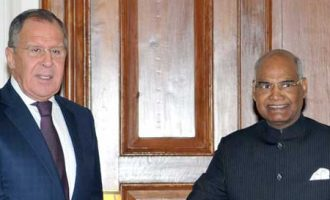 Foreign Minister of the Russian Federation, Sergei Lavrov calling on the President, Ram Nath Kovind
