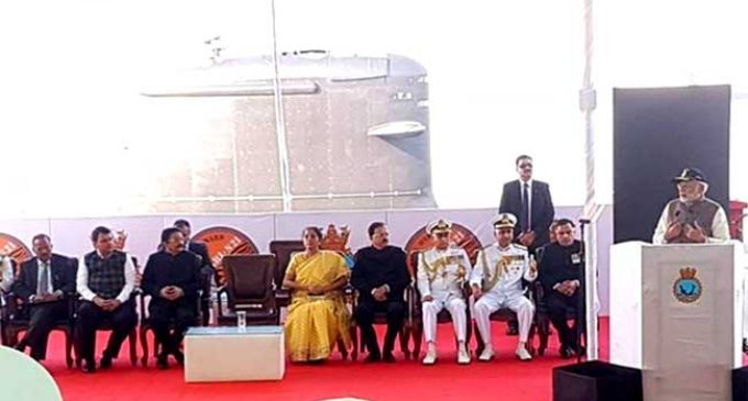 PM commissions INS Kalvari to boost India's defence, security