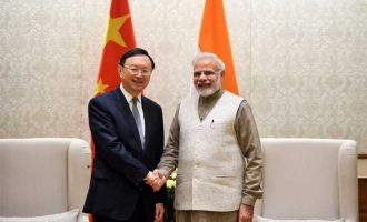 State Councillor of the People's Republic of China, Yang Jiechi calling on the Prime Minister, Narendra Modi