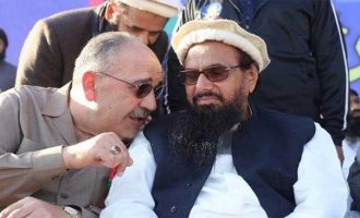 Palestine envoy shares stage with Hafiz Saeed, India reacts