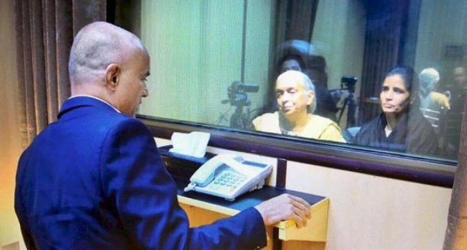 Kulbhushan Jadhav meets family – separated by glass panel